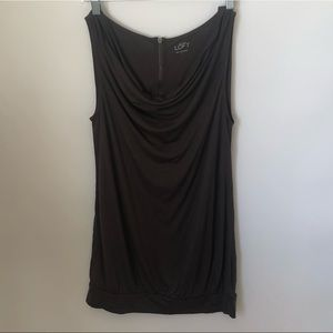 Loft Ann Taylor brown sleeveless blouse small